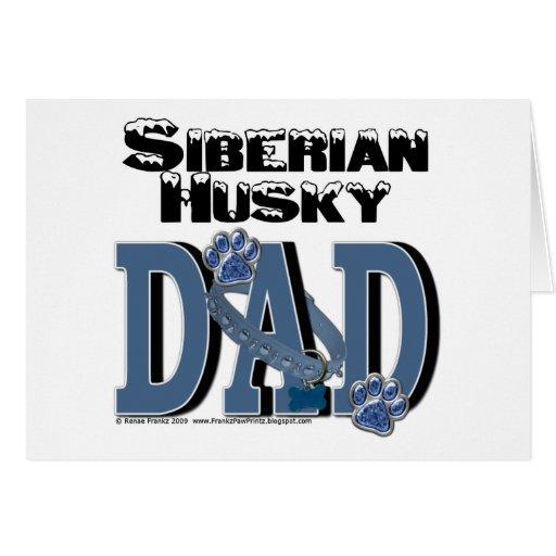 Siberian Husky DAD Card