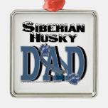 Siberian Husky DAD Christmas Tree Ornament