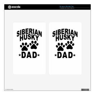 Siberian Husky DAD DOG.png Kindle Fire Decal