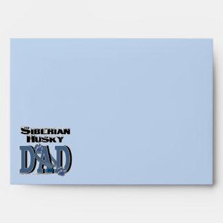 Siberian Husky DAD Envelopes