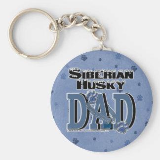 Siberian Husky DAD Keychain
