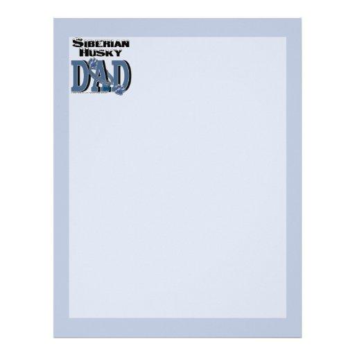 Siberian Husky DAD Letterhead Template