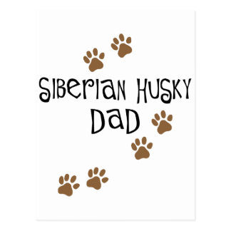 Siberian Husky Dad Postcard