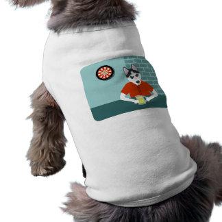 Siberian Husky Dartboard Beer Bar Shirt