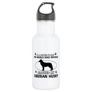 siberian husky designs stainless steel water bottle