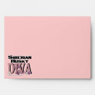 Siberian Husky DIVA Envelopes