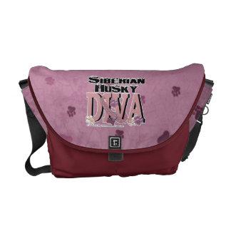 Siberian Husky Diva Messenger Bag