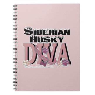 Siberian Husky DIVA Spiral Notebooks