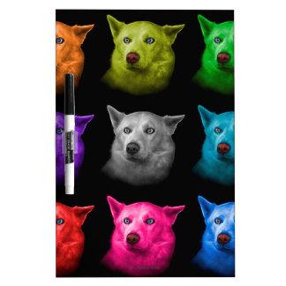 Siberian Husky Dog Art 2103 BB Dry-Erase Board