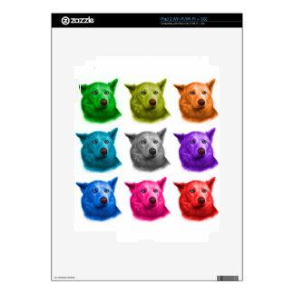 Siberian Husky dog art 2103 WB iPad 2 Decals