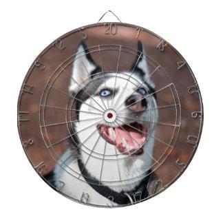 Siberian Husky dog blue eyes Dart Boards