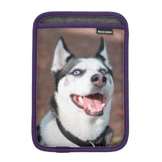 Siberian Husky dog blue eyes iPad Mini Sleeve