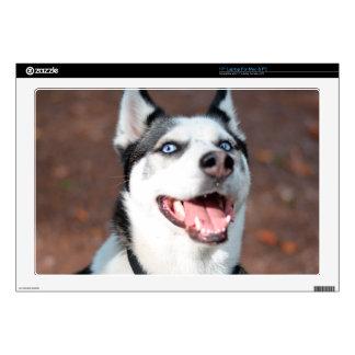 "Siberian Husky dog blue eyes 17"" Laptop Skin"