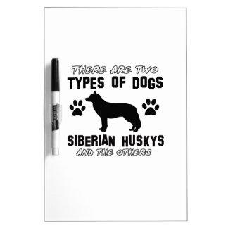 Siberian Husky dog breed designs Dry Erase Whiteboard