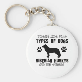 Siberian Husky dog breed designs Keychain