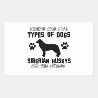 Siberian Husky dog breed designs Rectangular Sticker