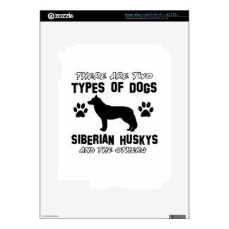 Siberian Husky dog breed designs Skin For iPad 3