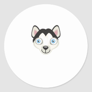 Siberian Husky Dog Breed - My Dog Oasis Classic Round Sticker