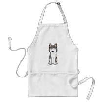 Siberian Husky Dog Cartoon Adult Apron