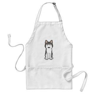 Siberian Husky Dog Cartoon Adult Apron