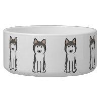 Siberian Husky Dog Cartoon Bowl