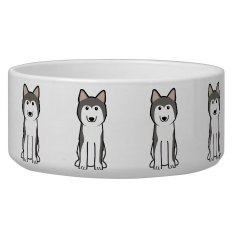 Siberian Husky Dog Cartoon Bowl