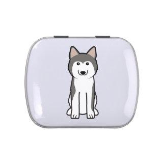 Siberian Husky Dog Cartoon Candy Tin