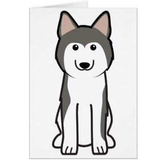 Siberian Husky Dog Cartoon Card