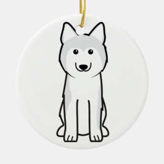 Siberian Husky Dog Cartoon Ceramic Ornament