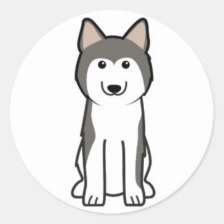 Siberian Husky Dog Cartoon Classic Round Sticker