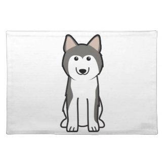 Siberian Husky Dog Cartoon Cloth Placemat