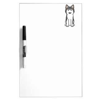Siberian Husky Dog Cartoon Dry Erase Board