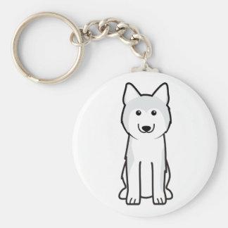 Siberian Husky Dog Cartoon Keychain