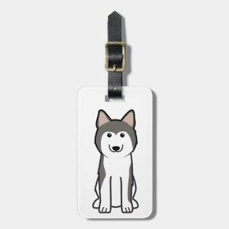 Siberian Husky Dog Cartoon Luggage Tag