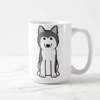 Siberian Husky Dog Cartoon Mugs