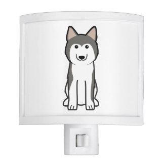 Siberian Husky Dog Cartoon Night Light