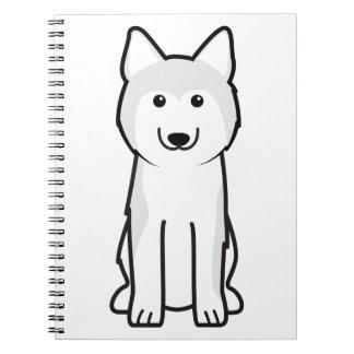 Siberian Husky Dog Cartoon Notebooks