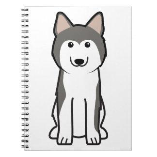Siberian Husky Dog Cartoon Journals