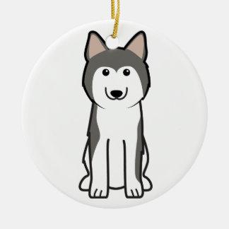 Siberian Husky Dog Cartoon Ornament