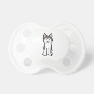 Siberian Husky Dog Cartoon Pacifier