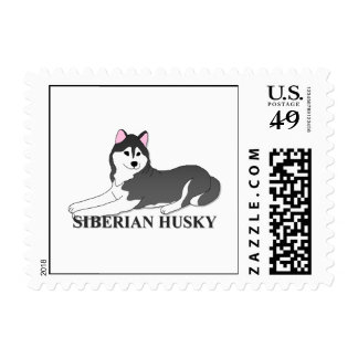 Siberian Husky Dog Cartoon Stamps