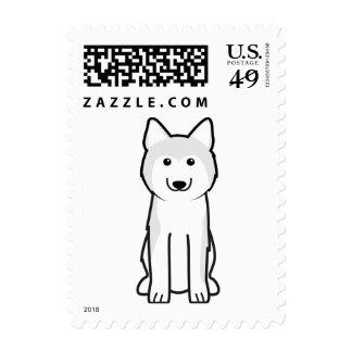 Siberian Husky Dog Cartoon Postage Stamps