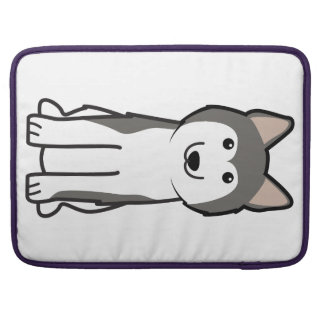 Siberian Husky Dog Cartoon Sleeve For MacBook Pro