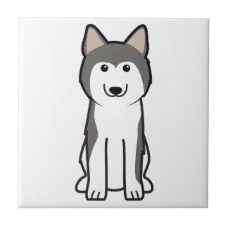 Siberian Husky Dog Cartoon Tile