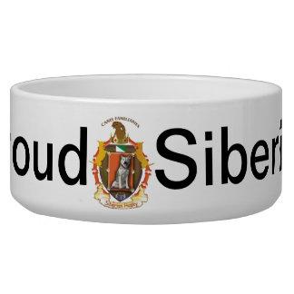 Siberian Husky Dog crest bowl - Flag of Siberia