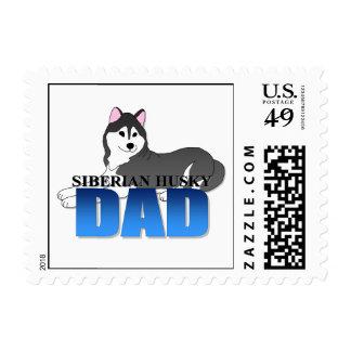 Siberian Husky Dog Dad Postage Stamp