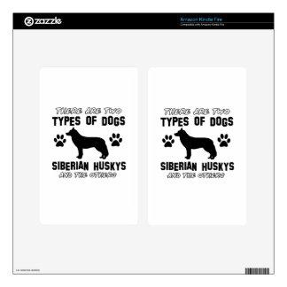 Siberian husky dog Designs Kindle Fire Decals