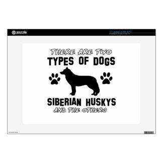 Siberian husky dog Designs Laptop Skin