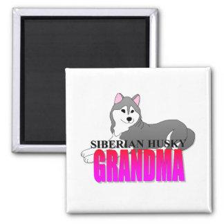 Siberian Husky Dog Grandma Magnet