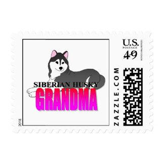 Siberian Husky Dog Grandma Postage